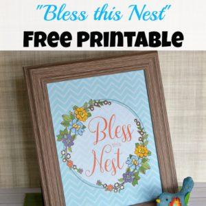 """Bless this Nest"" Free Printable Artwork"