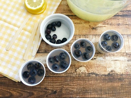 Blueberry Lemonade Ice Pops
