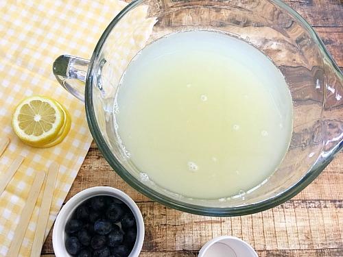 Blueberry Lemonade Ice Pops