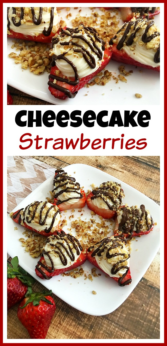 If you want a sweet treat but don't want to spend forever putting it together, then you've got to make these easy and delicious cheesecake strawberries!