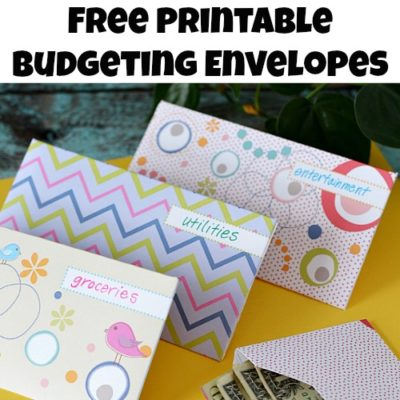 Envelope Budgeting System Free Printable Envelopes