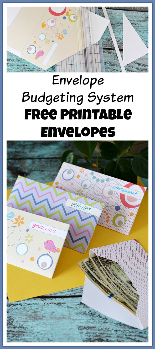 The envelope budgeting system is an easy and effective way to make a budget! And it's a lot more fun if you use these pretty free printable envelopes!