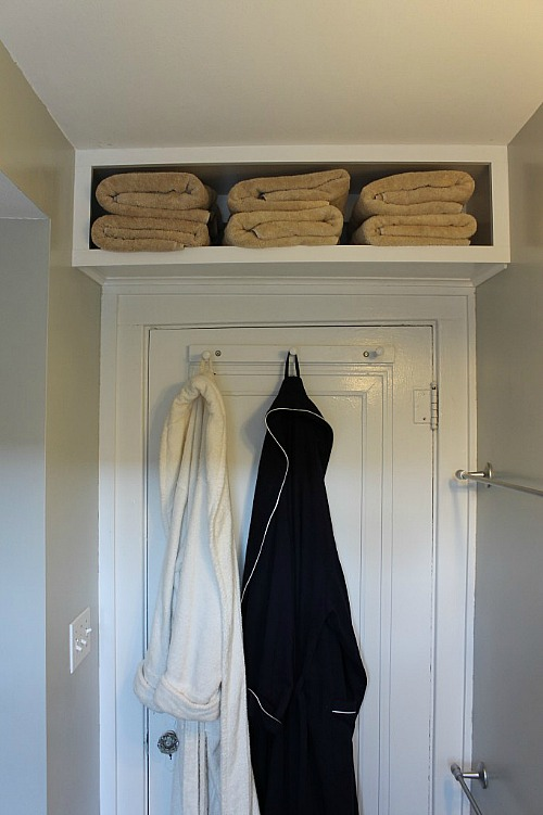 DIY Over The Door Storage