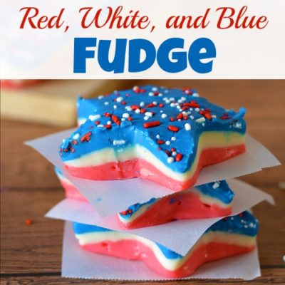 Patriotic Red, White, and Blue Fudge