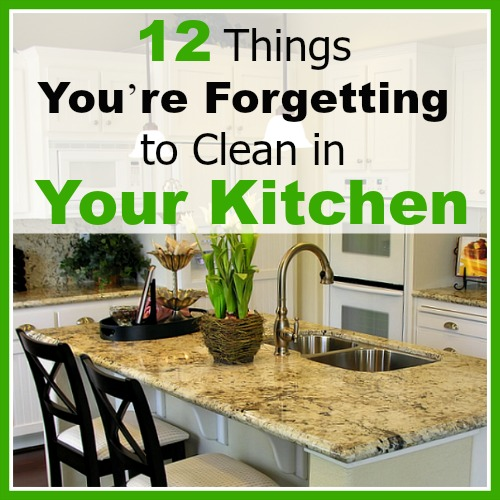 To have a safe cooking environment, you need to have a clean kitchen! That's why you need to know about these 12 things you're forgetting to clean in your kitchen!