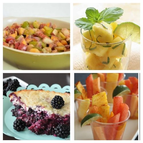 28 Yummy Delightful Fruit Recipes -Make the most of all the wonderful fresh fruit available during the summer by making some of these healthy and yummy fruit recipes! #ACultivatedNest