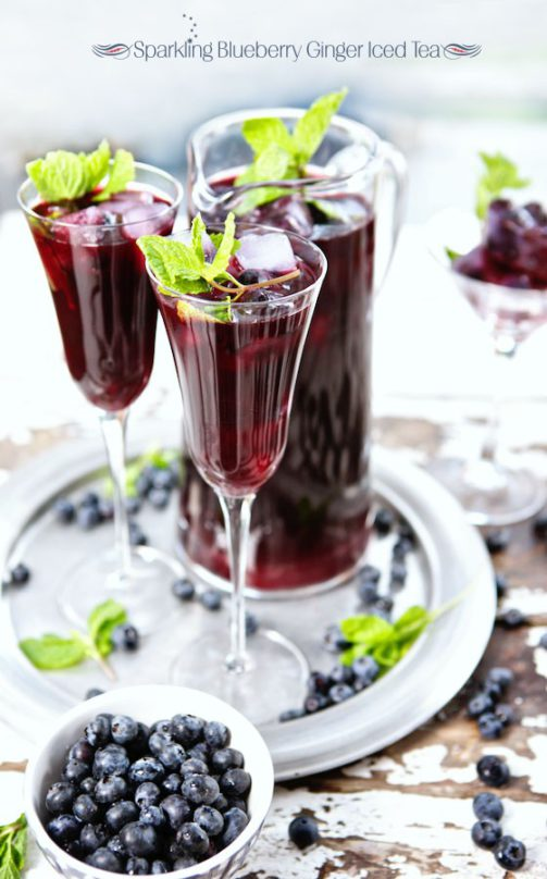 10 Refreshing Flavored Ice Tea Recipes - Blueberry Iced Tea