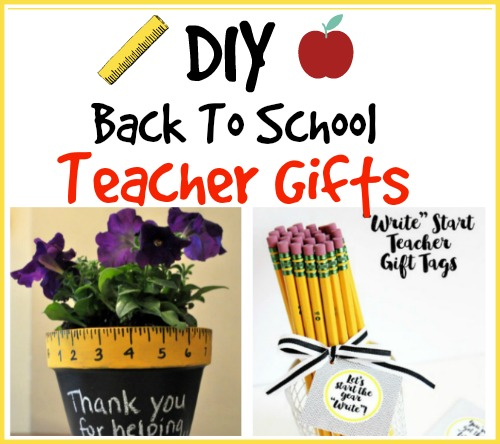 DIY Back To School Teacher Gift Ideas - Back to school is right around the corner! I think teachers always appreciate a thoughtful gift whether it's the beginning or end of the year or even just because. I've collected some of my favorite DIY Gifts for Teachers that I'm sure they will love.