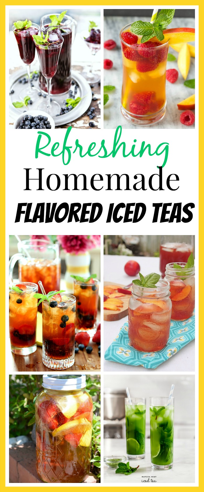 10 Refreshing Flavored Ice Tea Recipes-Sipping some ice cold tea is one way to beat the heat of summer! Need some new ideas for cold refreshing flavored ice tea recipes? You have to give these tea recipes a try if you're used to just having plain iced tea (sweet in the South).