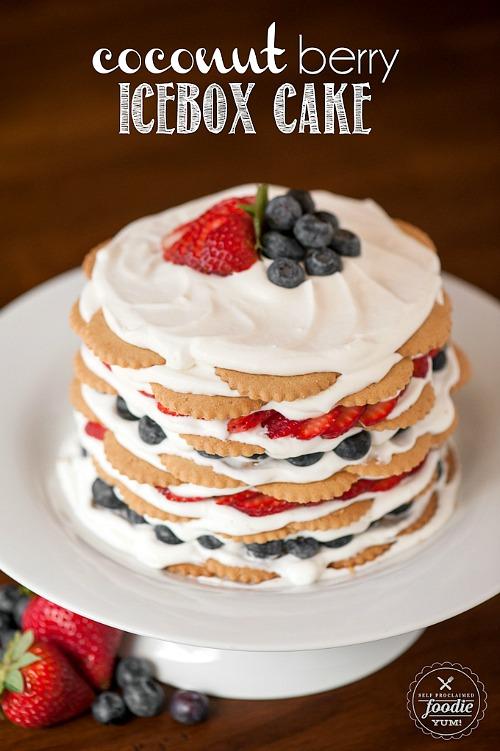 10 Scrumptious No-Bake Desserts- Coconut Berry Icebox Cake