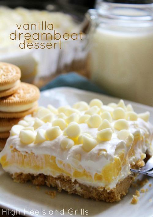 10 Scrumptious No-Bake Desserts- Vanilla Dreamboat Dessert