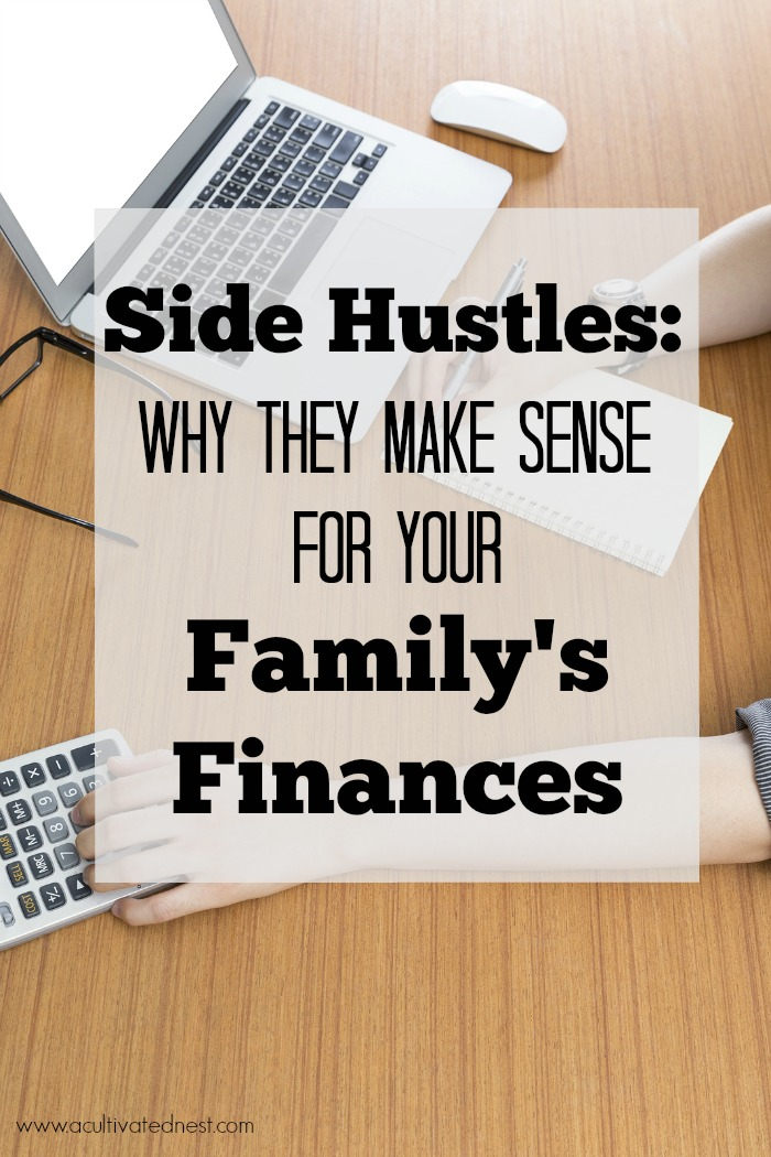 If your family is struggling financially, it only makes sense to earn some extra money with a side hustle that can change your family's finances! A side hustle can help you pay down debt faster, and it can also allow you to do more as a family! A side hustle also doesn't necessarily mean working outside the home.