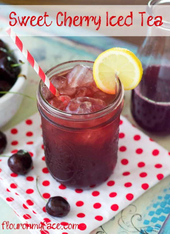 10 Refreshing Flavored Ice Tea Recipes - Sweet Cherry Iced Tea