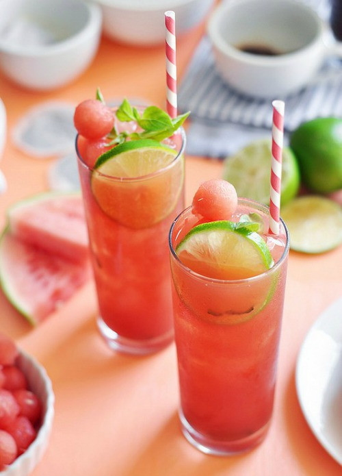 10 Refreshing Flavored Ice Tea Recipes - Watermelon Lime Ice Tea