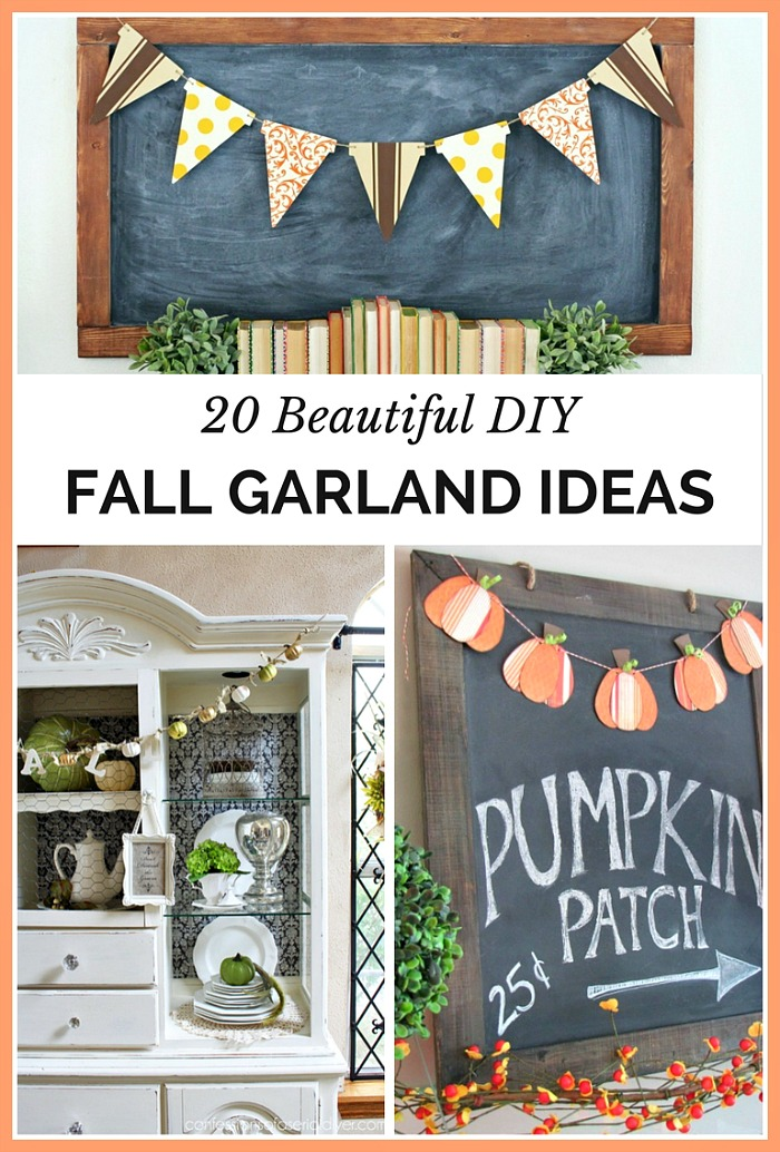 Beautiful DIY Fall Garland Ideas - This year I decided to add some DIY Fall Garlands to my home. I found so many beautiful ideas from around the web that I can't wait to share them with you! From washi tape garlands, leaf garlands, mini pumpkin garlands, crochet garlands and more, these garlands will add a festive flair to your home!