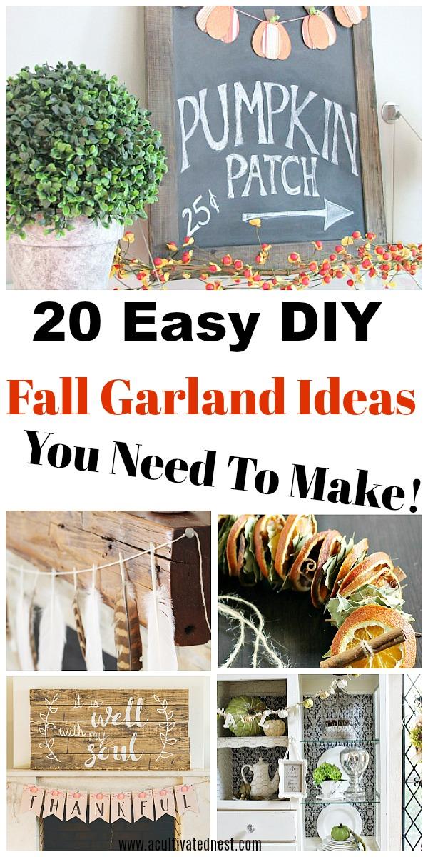 Diy Fall Garlands Beautiful Fall Home Decor Ideas
