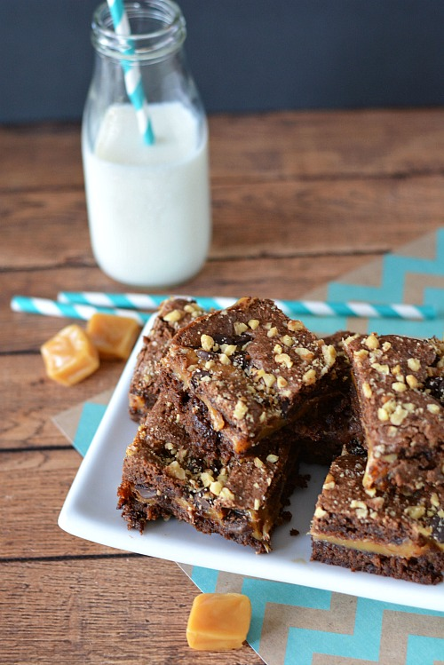 If you love chocolate and caramel, then you'll love them together in these caramel brownies! The caramel is so gooey and delicious warm from the oven!