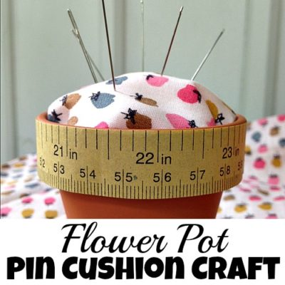 Flower Pot Pin Cushion Craft