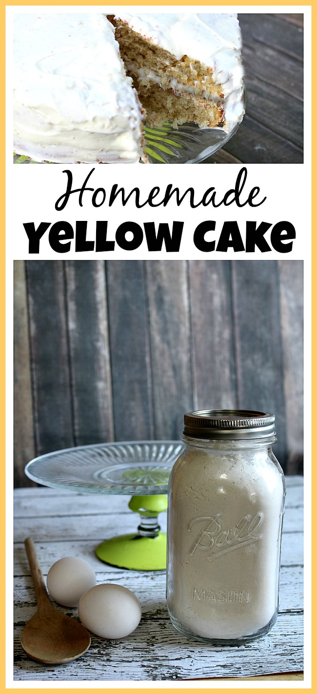 If you want a delicious (and healthier) cake, then skip the box mix and make this homemade yellow cake! You can easily change up the flavor, too!