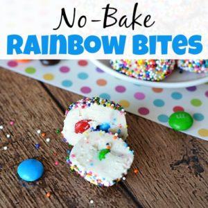 No-Bake Rainbow Bites Dessert