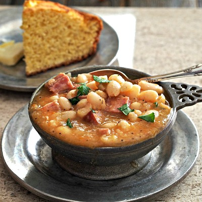 10 Old Fashioned Frugal Recipes from Grandma- Ham and Bean Soup. If you want to save money, then you should try to reduce your grocery budget. To do this easily, start eating some of these old fashioned frugal recipes!