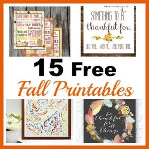 15 Pretty Free Fall Printables
