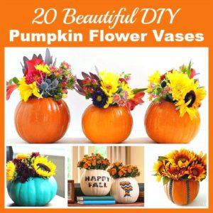 20 Beautiful DIY Pumpkin Flower Vases