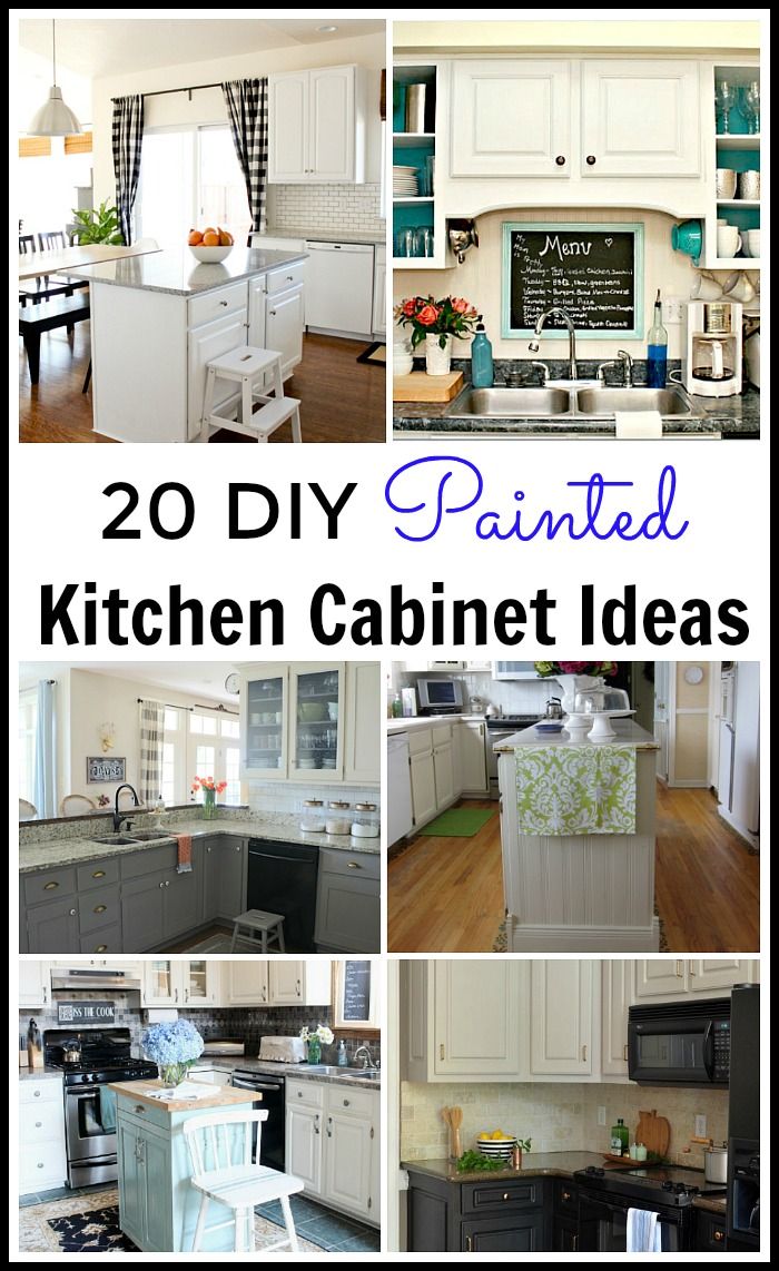 20 diy painted kichen cabinet ideas for Paint in kitchen ideas