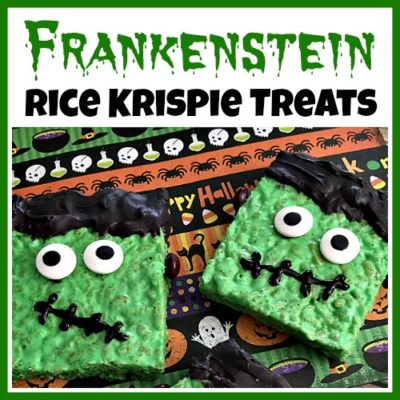 Cute Frankenstein Rice Krispie Treats