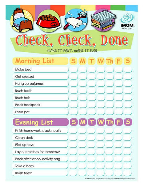 photo about Chore Chart Printable Free identify 10 Cost-free Printable Chore Charts for Little ones