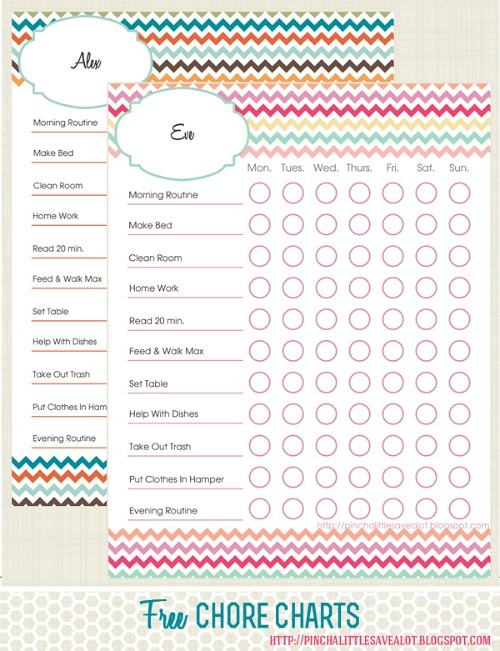 graphic about Free Printable Chore Chart Ideas known as 10 Totally free Printable Chore Charts for Little ones