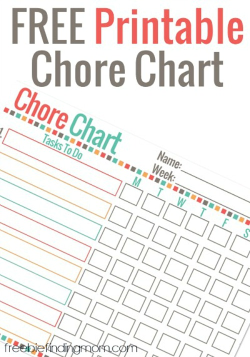 photograph regarding Printable Chore Chart for Kids named 10 Cost-free Printable Chore Charts for Children