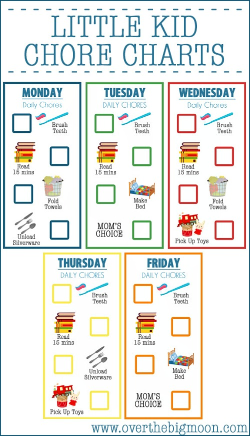 picture regarding Chore Chart Printable Free named 10 Cost-free Printable Chore Charts for Little ones