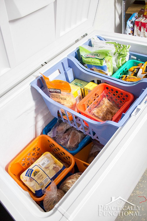 If you want to organize your home in an easy and inexpensive way, skip the expensive professional organizing systems and just organize your home with bins!