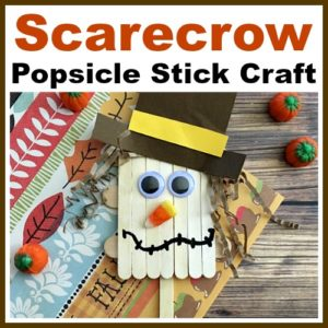 Scarecrow Popsicle Stick Craft for Kids