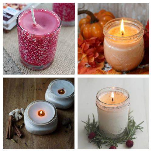 20 Beautiful DIY Candles- DIY candles make great homemade gifts for family and friends! These DIY candle tutorials are easy, inexpensive, and a lot of fun! | how to make candles, DIY gift ideas, homemade gift ideas, #diyCandles #DIY #candles #crafts #ACultivatedNest
