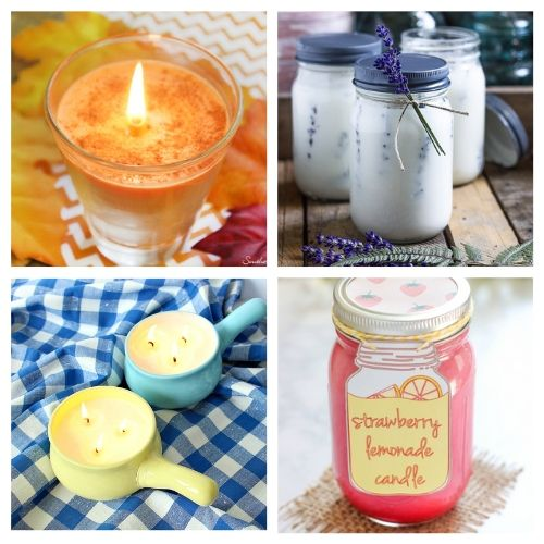 20 Beautiful Candles to Make- DIY candles make great homemade gifts for family and friends! These DIY candle tutorials are easy, inexpensive, and a lot of fun! | how to make candles, DIY gift ideas, homemade gift ideas, #diyCandles #DIY #candles #crafts #ACultivatedNest
