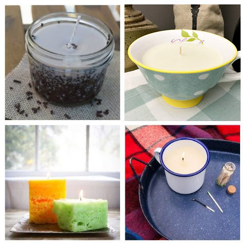20 Beautiful Homemade Candle Crafts- DIY candles make great homemade gifts for family and friends! These DIY candle tutorials are easy, inexpensive, and a lot of fun! | how to make candles, DIY gift ideas, homemade gift ideas, #diyCandles #DIY #candles #crafts #ACultivatedNest