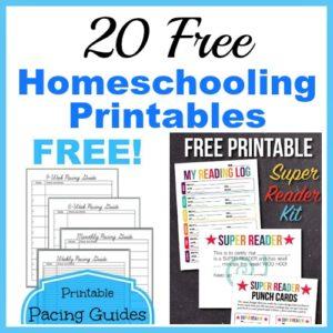 20 Free Homeschooling Printables