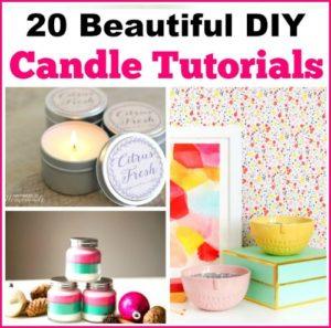 20 Beautiful DIY Candle Tutorials
