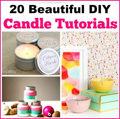 Here are 20 DIY Candle Tutorials that are beautiful and very easy and inexpensive to make. These make fabulous gifts!
