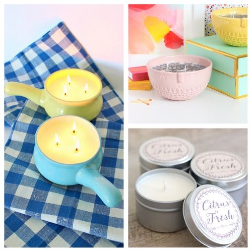 20 Beautiful DIY Candle Tutorials- DIY candles make great homemade gifts for family and friends! These DIY candle tutorials are easy, inexpensive, and a lot of fun! | how to make candles, DIY gift ideas, homemade gift ideas, #diyCandles #DIY #candles #crafts #ACultivatedNest