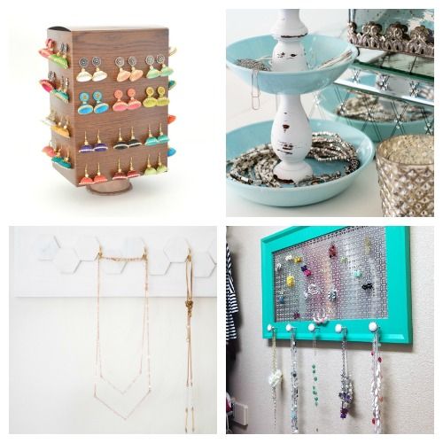 20 Awesome DIY Jewelry Organizers - If you want to finally get your jewelry organized, then you need to try some of these DIY jewelry organizers! They're easy to make, and super helpful! | how to make your own jewelry organizers, clever ways to organize your jewelry, organizing tips, organizing ideas, #organizing #DIY #organization #jewelry #diyProject #necklaces #rings #bracelets #ACultivatedNest