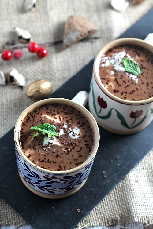 If you're tired of plain hot chocolate, then you have to try making one of these easy homemade hot chocolates! There are so many flavor possibilities!