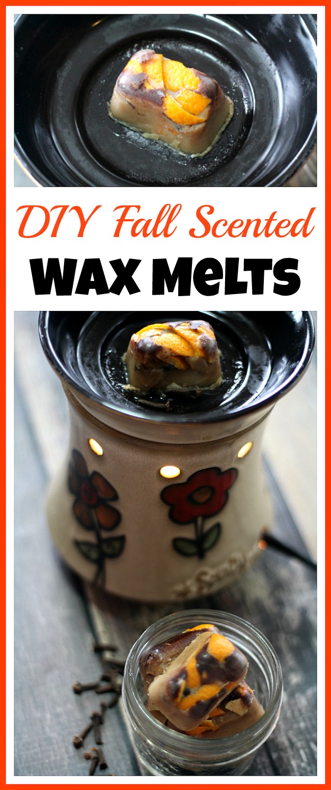 DIY Fall Scented Wax Melts- It's so easy to make your own wax melts! These DIY fall scented wax melts have a lovely fall smell, and are made from safe beeswax!
