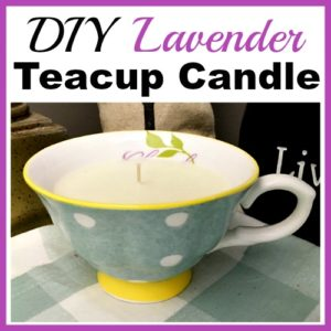 DIY Lavender Teacup Candle