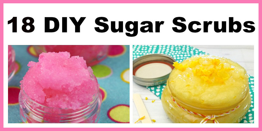 18 DIY Sugar Scrubs- Finding all-natural and affordable beauty products in stores can be difficult. So why not make your own? Making your own DIY sugar scrubs is both easy and inexpensive, and they make wonderful homemade gifts!