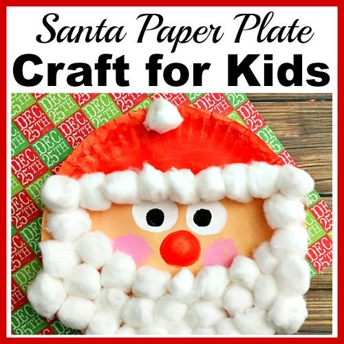 Santa Christmas Paper Plate Craft For Kids