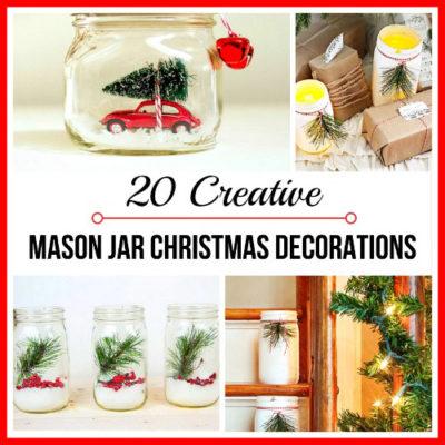 20 Creative DIY Mason Jar Christmas Decorations