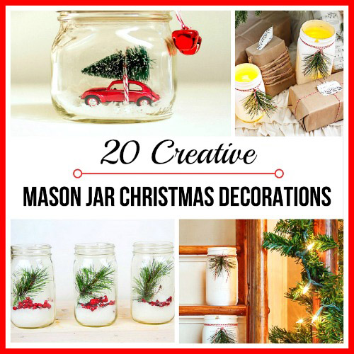 20 creative diy mason jar christmas decorations - Christmas Jar Decorations